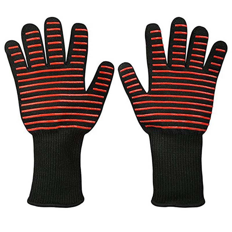 High Temperature Resistance 500 Degrees Flame Retardant Not Yellow Fireproof Barbecue Insulation Gloves