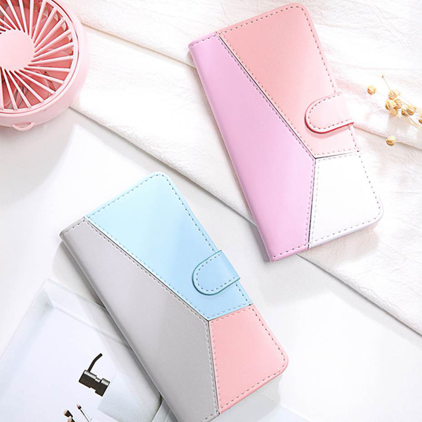 K30 2019 Mixed Colors Leather Flip Case For LG K30 (2019) Wallet Capa Case For LG K30 2019 Phone Case Coque