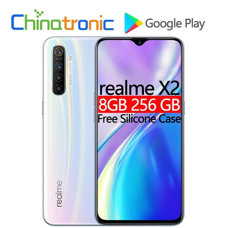 """Оригинал realme X2 8 Гб 256 ГБ 4G FDD LTE мобильный телефон 6,4 """"FHD + Snapdragon 730G Восьмиядерный 64 мп VOOC 30 Вт быстрое зарядное устройство NFC Смартфоны и мобильные телефоны      АлиЭкспресс"""