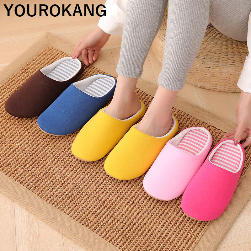 Women Home Slippers Female Lightweight Silent Indoor Household Slippers Couple Shoes Unisex Mute Soft Japanese Style Flip Flops