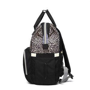 Image 3 - Leopard Diaper Bag Waterproof Maternity Bag Nappy Bags Large Capacity Baby Backpack Bag Travel Mummy Bag Nursing Bag