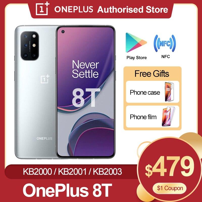 Новый Oneplus 8 T 8 T 5G глобальная прошивка смартфон 120 Гц жидкости активно-матричные осид, Дисплей Snapdragon 865 65 Вт Warp заряда One plus 8 T мобильный телефон