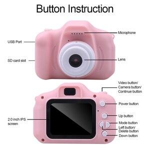 Image 2 - Kebidu Mini sevimli çocuk dijital kamera oyuncak kamera 2.0 inç resim 1080P Video çocuk oyuncakları Video kaydedici kamera
