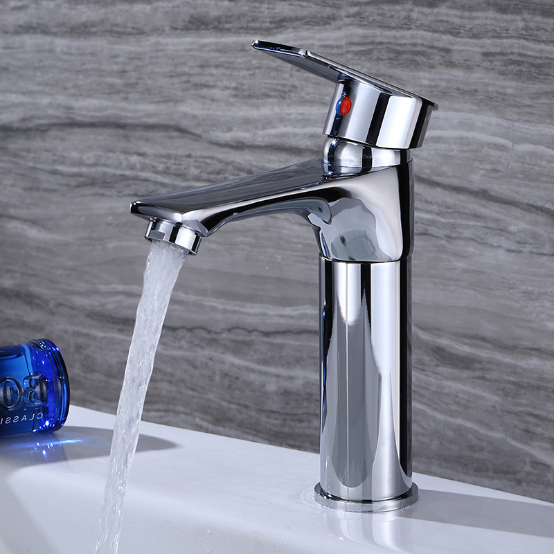 Permalink to Bathroom Basin Faucet Single Lever Lift Up Down Sink Faucet Height Adjustable Cold and Hot Water Mixer Tap Bathroom Accessories
