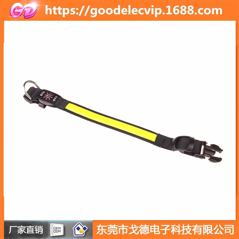 USB Reflective Leather Luminous Collar LED Lattice Armband Neck Ring Reflective Lattice Dog Neck Ring Bandana-