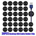 30 шт автомобильных кабельные зажимы силиконовые USB линия для рабочего стола, Управление Совместимость зажимы для вождения провод рекордера...