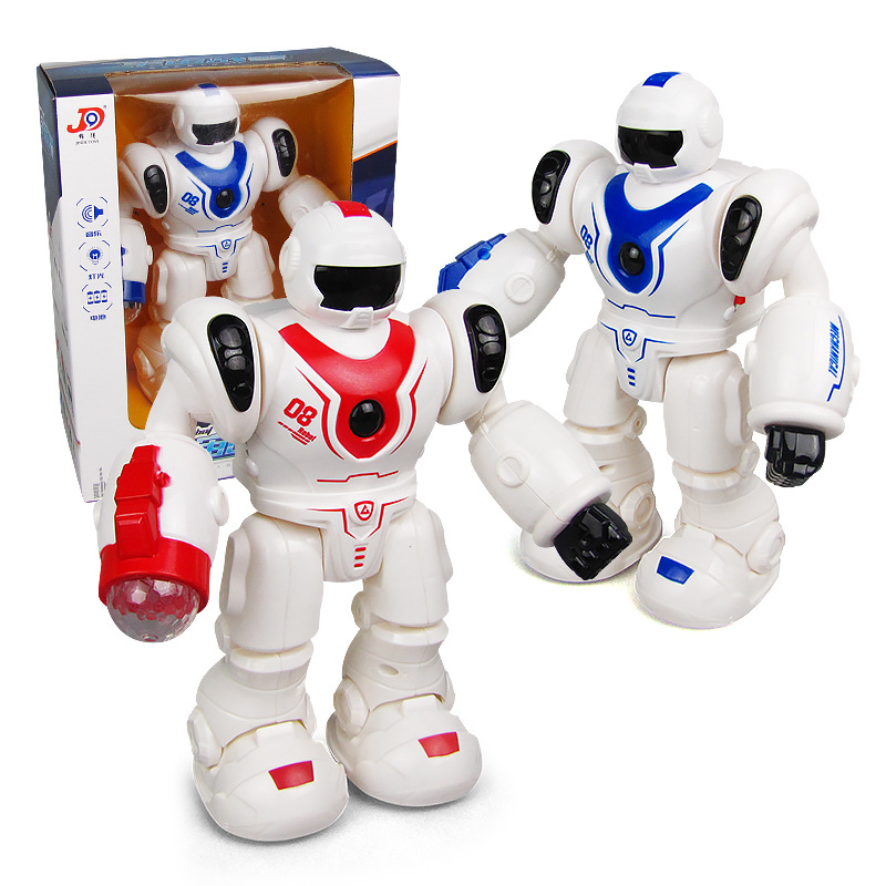 Electric Dancing Robot Toys Sound-And-Light Dancer Robot CHILDREN'S Toy Stall Hot Selling