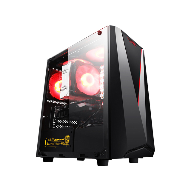 IPASON CHEAP Gaming PC Intel 8th Gen G5400 RX560 4G 16G RAM support DVI/HDMI/DP Desktop Computers For Game LOL/TOMB RAIDER/WOW 5