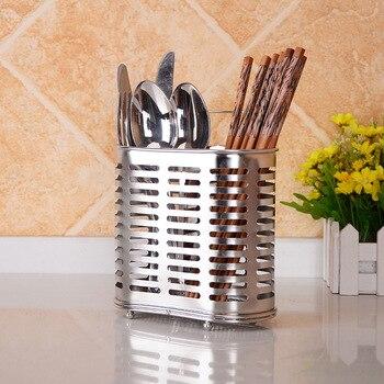 Кухонная посуда, органайзер из нержавеющей стали корзинка для палочек для еды, эллипс, вертикальный тип, крючки для стены, слив воды, держате...