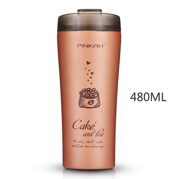304 Stainless Steel Office Coffee Cup Car Thermos Bottle Outdoor Insulated Stainless Steel Travel Coffee Portable Thermos HH50BW