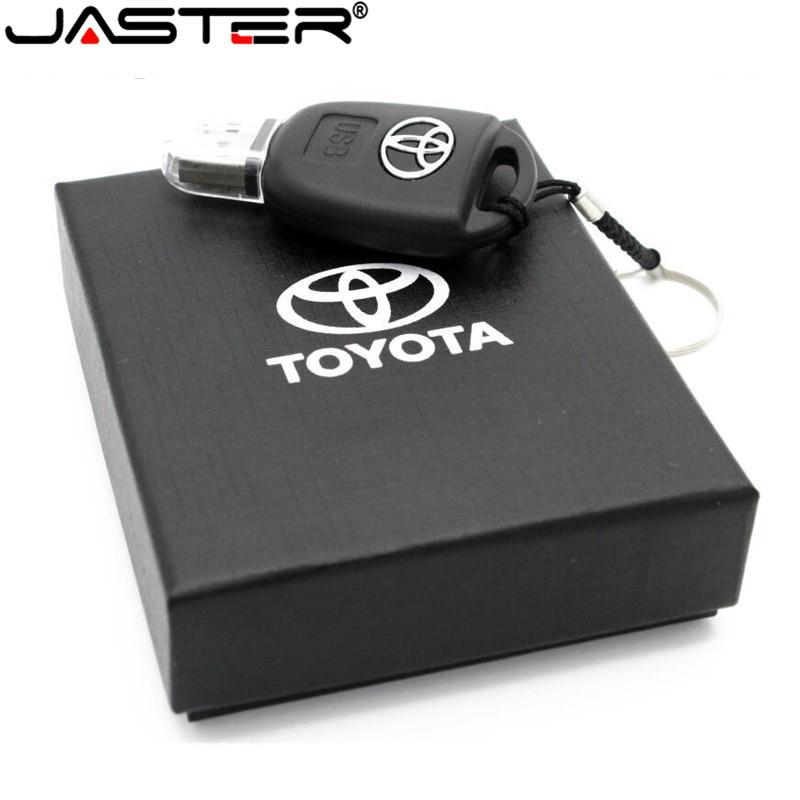 JASTER Car Logo Pen Drive 128gb USB Flash Drive 64gb Mercedes Toyota Key USB Stick 32GB 16GB 8GB Pendrive Memory Stick USB