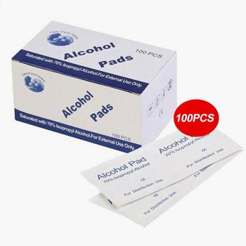 100Pcs 70% Alcohol Wet Wipe Disposable Disinfection Prep Swap Pad Antiseptic Skin Cleaning Care Jewelry Mobile Phone Clean Wipe