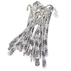 Gancho marcador de metal tibetano, 20 peças, jóias, marcação do livro, pingente de cor prata de decoração