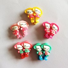 2 Pcs/lot Scrunchy Girls Kids Cute Cat Hair Clip Headbands Cartoon Hairpins Hairclip Accessories