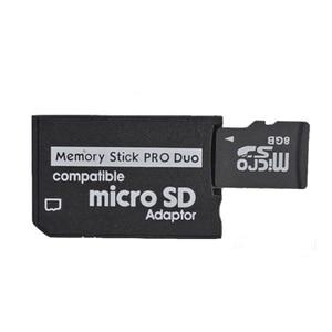 Image 1 - 10 pièces pour Micro SD SDHC TF à MS mémoire Stick pour Pro Duo carte adaptateur convertisseur mémoire Stick pour PSP 1000 2000 3000