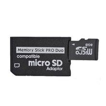 마이크로 SD SDHC tf에 대 한 10 pcs 프로 듀오 카드 어댑터 변환기 메모리 스틱에 대 한 MS 메모리 스틱 PSP 1000 2000 3000