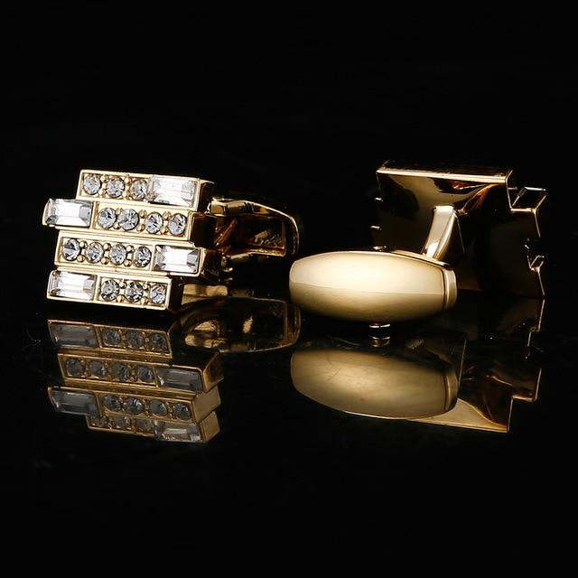 High-end Luxury Men's French  Crystal Cufflinks  2