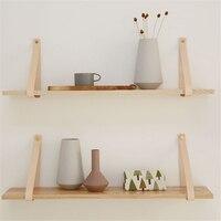 50 cm Wall Hanging Shelf Wooden Tan Office Sundries Art Storage Rack Nordic Style Home Wooden Decorative Craft Holder Racks