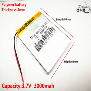 Good Qulity 3.7V,3000mAH 406080 Polymer lithium ion / Li-ion battery for tablet pc BANK,GPS,mp3,mp4