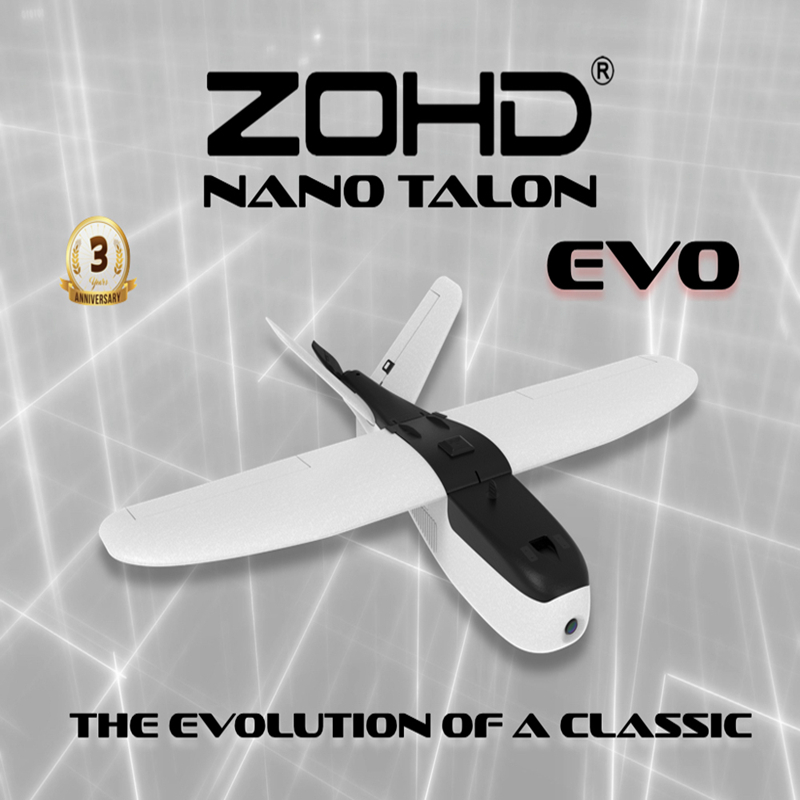 ZOHD Talon EVO 860mm Wingspan AIO V-Tail EPP FPV Wing RC Airplane PNP/With FPV Ready Hot Sale