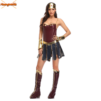 Wonder Woman Costumes Justice League Supper Hero Costume women Halloween Costume for Women Fancy Dress Diana Prince Cosplay цена 2017