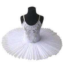 Robe Tutu de Ballet blanche pour enfants, jupe, Costume de danse du ventre, scène professionnelle