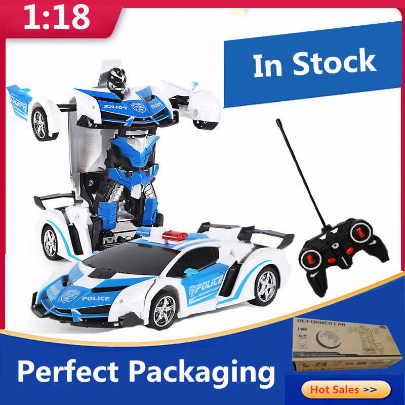 Robots de transformación de coche a control remoto, Robots de modelo de vehículo deportivo, juguetes de deformación a la moda, juguetes de regalo para niños, envío rápido