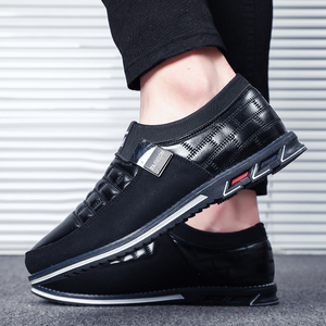 Image 4 - Sonbahar ayakkabı erkekler rahat deri ayakkabı deri yüksek kaliteli rahat ayakkabılar ışık siyah ayakkabı erkekler rahat ayakkabılar