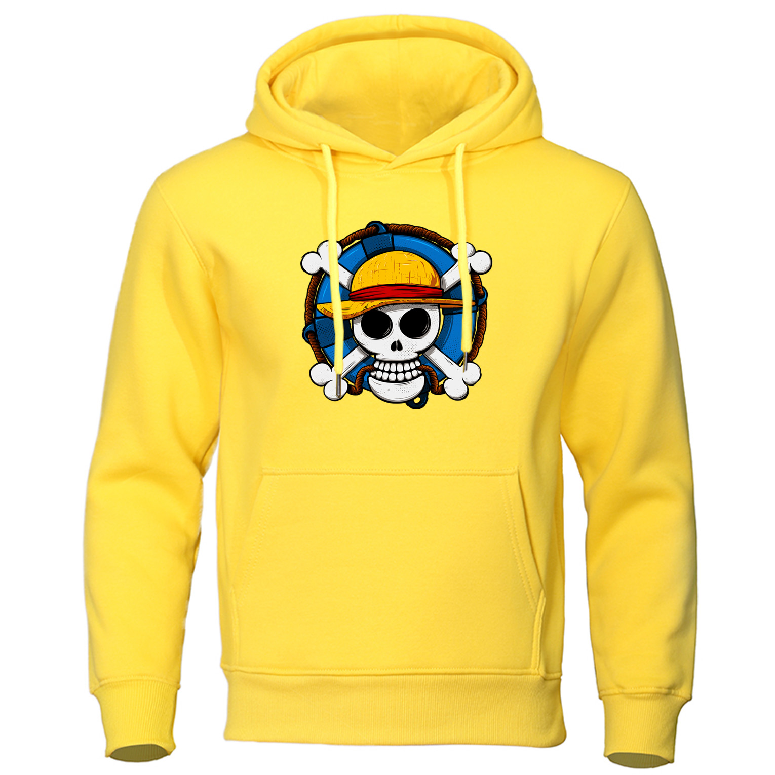 One Piece Autumn Pullover Skull Luffy Men's Hoodie Sweatshirts Sweat Homme Japanese Anime Harajuku Hip Hop Style Hoodies Coat