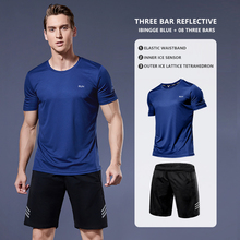 2 Pcs/Set Men's Tracksuit Sports Fitness Compression Quick Drying Running Clothing Exercise Workout Tights ropa deportiva hombre