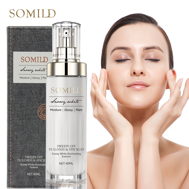 SOMILD Luxury Korean Cosmetics Snowy White Face Serum Whitening Women Firming Emulsion Plant Essence Skin Care Wrinkle Cream