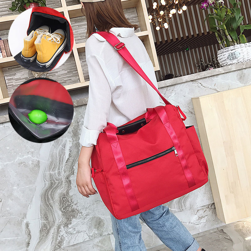 Women Sports Gym Bags Fashion Nylon Training Duffel Bag For Female Shoes Bag Dry And Wet Travel Handbag Luggage Bbagsmart in Top Handle Bags from Luggage Bags