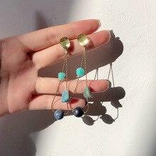 fashion women earrings  scrub long dangle drop jewelry gifts beautiful oorbellen flawless bijoux