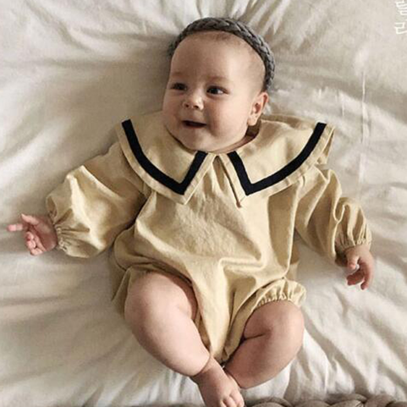 2020 New Korean Style Baby Girls Boys Rompers Kids Jumpsuit Toddler Casual Fashion Baby Clothing Toddler Baby Girl Rompers