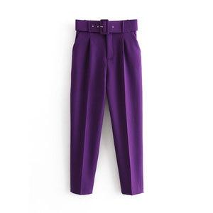Image 2 - Vadim women elegant solid pants sashes pockets zipper fly design office wear trousers female casual long pantalones KA830