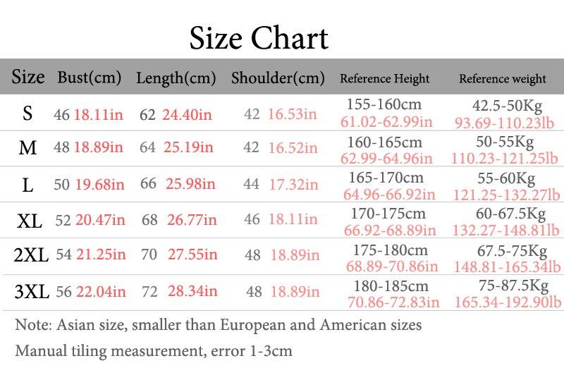 纯棉HT尺码对照表