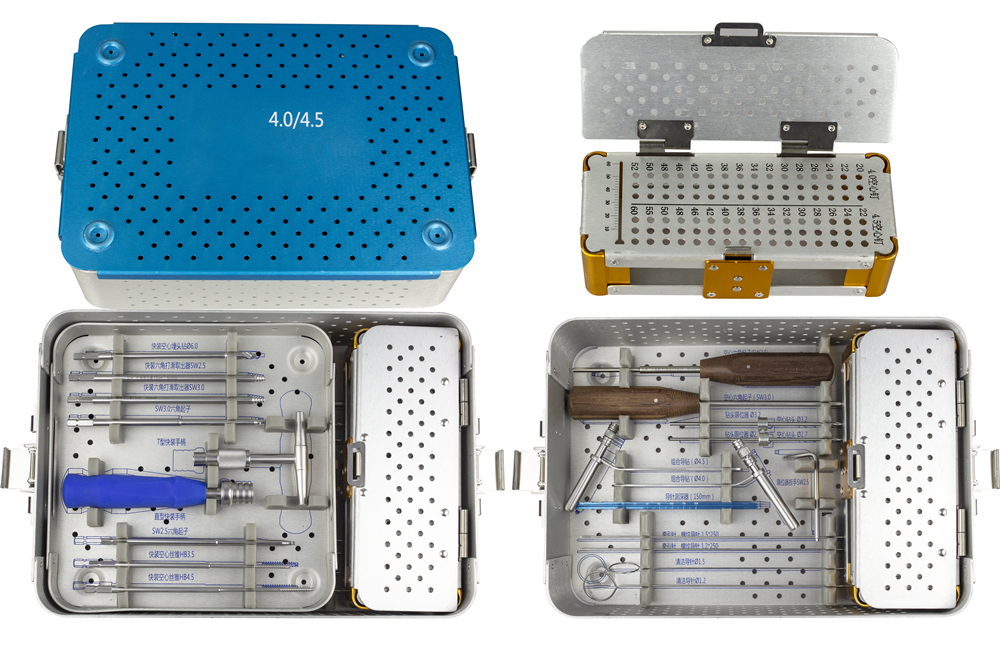 Stainless Steel Tools Case Box 4.0/4.5 Surgical Instruments Hollow Compression Screw Instrument Set Orthopedics Instruments