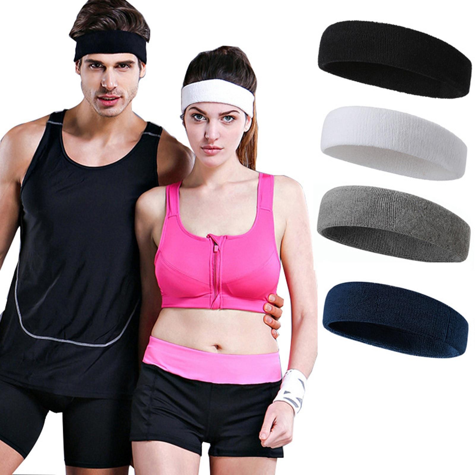 Повязка на голову для мужчин и женщин, эластичная спортивная повязка на голову, хлопковый материал для йоги, спортивный дышащий Мягкий голо...