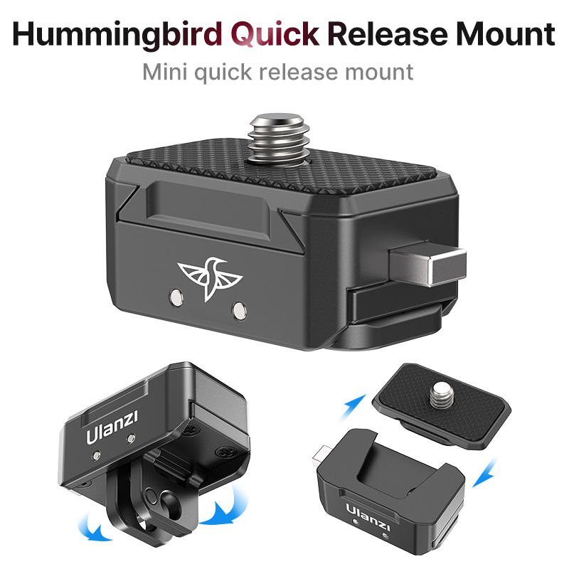 Ulanzi Quick Release Mount Kit Tripod Ballhead Quick Switch Release System for Smartphone Gopro SlR Camera Mount Adapter