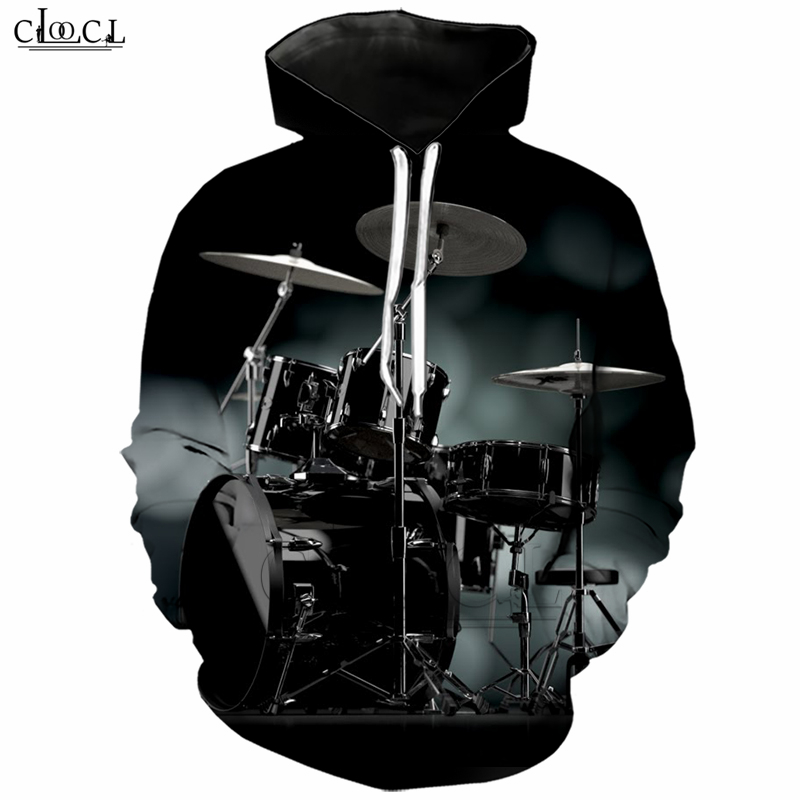 Classic Musical Instruments Drum Men Hoodies 3D Printed Autumn Hoodie Drumming Tracksuit Clothing Harajuku Streetwear Tops T243