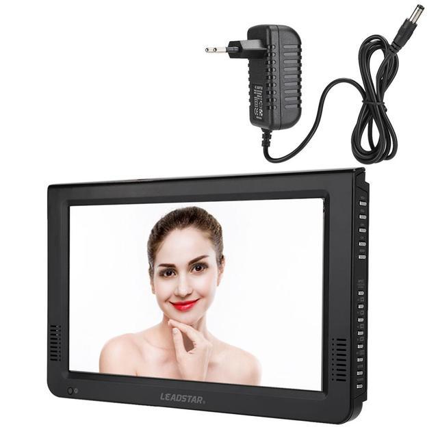 LEADSTAR 10in 스크린 DVB T2 16:9 1080P 자동차 디지털 TV 스테레오 주변 휴대용 TV