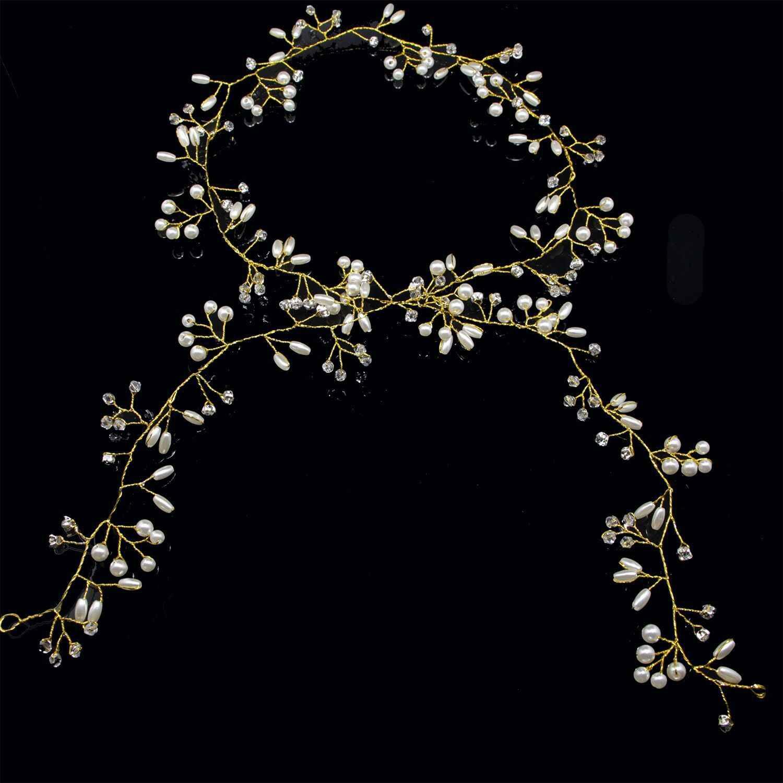 2019 западный свадебный Модный золотой серебряный головной убор для невесты ручной работы Топ свадебная корона цветочные жемчужные аксессуары для волос