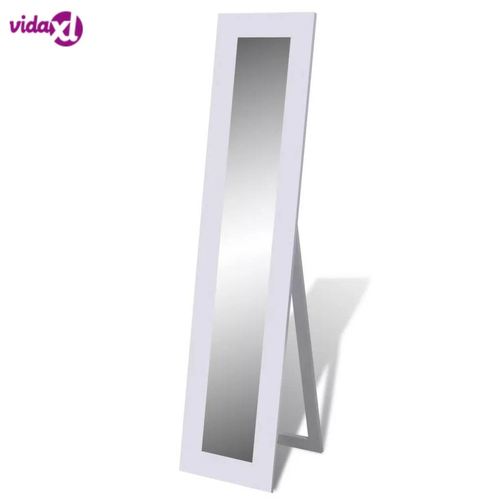VidaXL High-Quality Free Standing Mirror Full Length White Mirror Size 135 X 22 X 0.3 Cm