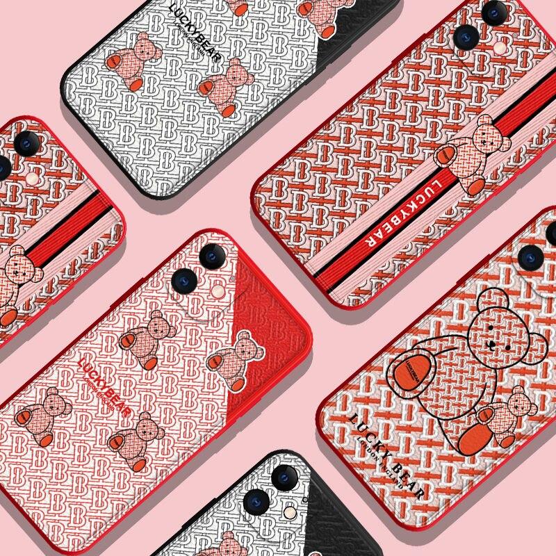 Custodia per telefono adorabile di lusso BBR Baby Bear Fashion per IPhone 12 Pro Max 11 Pro Max X XS XR 7 8 Plus 12mini custodia carina