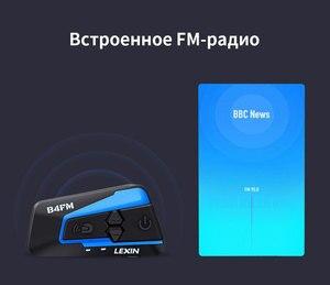 Image 4 - Lexin LX B4FM 4 רוכבים 1600M Bluetooth intercomunicador moto, אופנוע אינטרקום אוזניות עם FM רדיו BT קסדת אוזניות intercomunicadores דה casco moto
