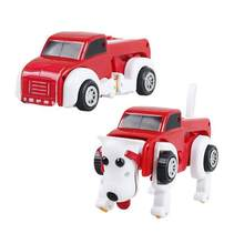 Deformable Transformer Car Dog Dinosaur Dino Transform Truck Buggy Kids Gift Toy Clockwork Deformation Toy(China)