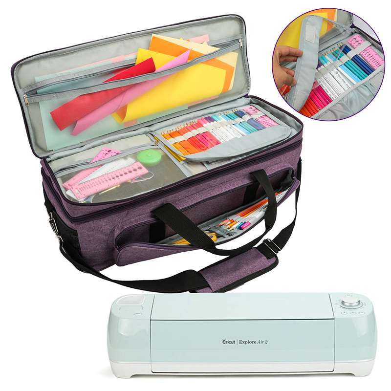 Tool Carrying Case Big Capacity Cutting Machine Supplies Storage Bag For Cricut Explore Air 2Knitting Needle Household Organizer