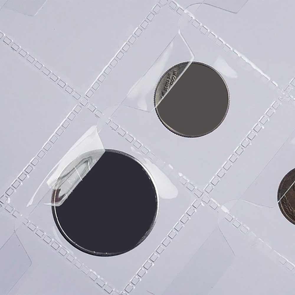 42 Grids Coin collection Album page below 28mm coins have Anti-slip cover Coin Hold Book Coin collection live page1 Sheet