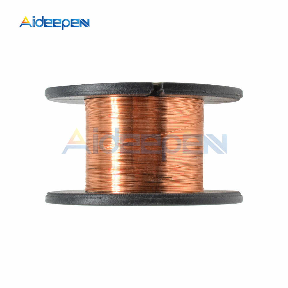 10PCS 0.1MM Copper Soldering Solder PPA Enamelled Repair Reel Wire AM