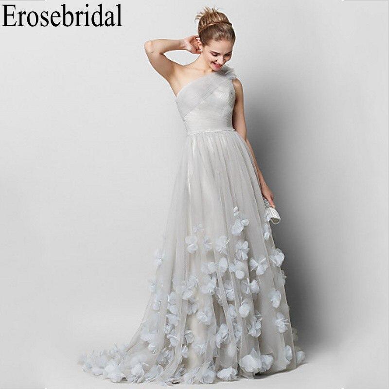 Erosebridal Formal Dresses Evening Elegant Gown Handmade Flower Occasion Dresses for Women Evening Gown One Shoulder